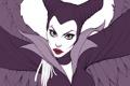 Картинка взгляд, рисунок, Angelina Jolie, арт, рога, Maleficent