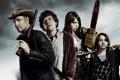Картинка Woody Harrelson, Zombieland, Jesse Eisenberg, Добро пожаловать в Zомбилэнд, Emma Stone, Abigail Breslin