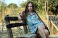 Картинка девушка, Gemma, скамья