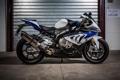 Картинка bmw, бмв, мотоцикл, white, вид сбоку, bike, ролеты