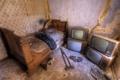 Картинка кровать, интерьер, телевизоры, кастыль