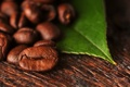 Картинка макро, лист, кофе, зерна, macro, leaf, beans