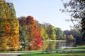 Картинка landscape, пейзаж, nature, небо, Autumn park, Осенний парк, озеро