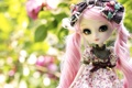 Картинка природа, кукла, розовые, игрушка, локоны