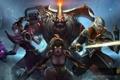 Картинка магия, меч, герои, hon, art, Heroes of Newerth, Dominion Shadowblade