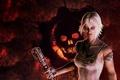 Картинка девушка, череп, граната, шестерни, Gears of War, Anya Stroud