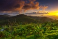 Картинка trees, cloud, hills, sunrise, thailand