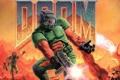 Картинка монстр, борьба, стрельба, морпех, doom, космический пехотинец, Doomguy