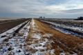 Картинка дорога, поле, снег