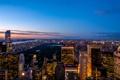 Картинка город, огни, парк, Нью-Йорк, вечер, sunset, New York