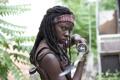Картинка взгляд, сериал, The Walking Dead, Ходячие мертвецы, Michonne, Danai Gurira, Мишонн