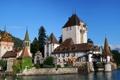 Картинка вода, горы, природа, замок, Швейцария, архитектура, Switzerland