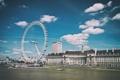Картинка Лондон, Темза, London, England, London Eye, Thames, River