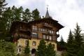 Картинка дизайн, St. Moritz, дом, деревья, Швейцария