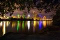 Картинка США, река, фото, ночь, Austin, город, Техас