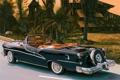Картинка черный, кабриолет, рисунок