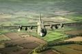 Картинка полет, самолёт, военно-транспортный, Hercules, C-130K