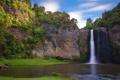 Картинка деревья, природа, река, гора, водопад