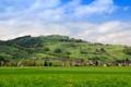 Картинка поле, пейзаж, природа, город, фото, дома, Швейцария