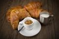 Картинка кофе, завтрак, молоко, coffee, круассаны, milk, Breakfast