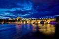 Картинка Чешская, Česká republika, небо, фонари, свет, Карлов мост, Praha