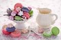 Картинка ваниль, посуда, Anna Verdina, меренги, макарун, ложки, печенье