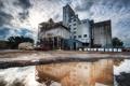 Картинка облака, здание, лужа, Heavy Industry in Petaluma
