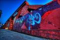 Картинка город, граффити, улица