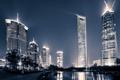 Картинка China, здания, Китай, Shanghai, Шанхай, ночной город, набережная