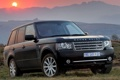 Картинка солнце, горы, джип, внедорожник, Land Rover, Range Rover, Ленд Ровер