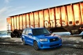 Картинка синий, тюнинг, Subaru, вагон, графити, tuning, Субару