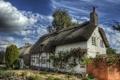 Картинка город, фото, дерево, забор, Англия, HDR, дома
