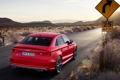 Картинка Audi, Красный, Ауди, Пустыня, Машина, Знак, Седан