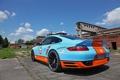Картинка машина, 997, Porsche, порше, вид сзади, Turbo, задок