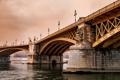 Картинка Будапешт, река, Дунай, мост Маргит, Margit Bridge, Венгрия, Budapest