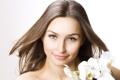 Картинка цветы, лицо, улыбка, волосы