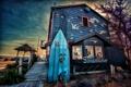 Картинка пейзаж, дом, набережная, магазин, доска для серфинга