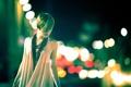 Картинка девушка, ночь, город, блики