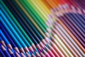 Картинка фон, радуга, карандаши, rainbow, background, Pencils