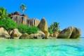 Картинка песок, море, пляж, солнце, тропики, океан, берег