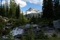 Картинка горы, река, Северо-восток штата Орегон