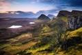 Картинка небо, облака, горы, холмы, озера, долина, Великобритания