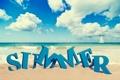 Картинка песок, облака, пляж, небо, лето, природа, море