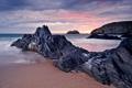 Картинка песок, море, пляж, небо, скала, скалы