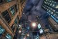 Картинка ночь, здания, Chicago, небоскрёбы