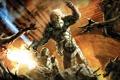 Картинка воин, монстры, сражение, Hellgate London, с мечом