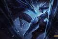 Картинка девушка, снег, монстр, арт, league of legends, shyvana, katiedesousa