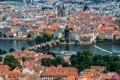 Картинка панорама, дома, Карлов мост, Чехия, Прага, река Влтава