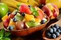Картинка grape, листики мяты, фруктовый салат, blueberry, клубника, виноград, mint leaves