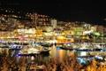 Картинка город, дома, вечер, порт, Монако, monaco, отели